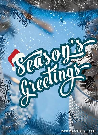 Season Greeting Seasons Greetings Animated Words Notice