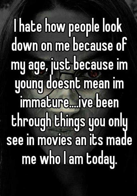 hate  people        age