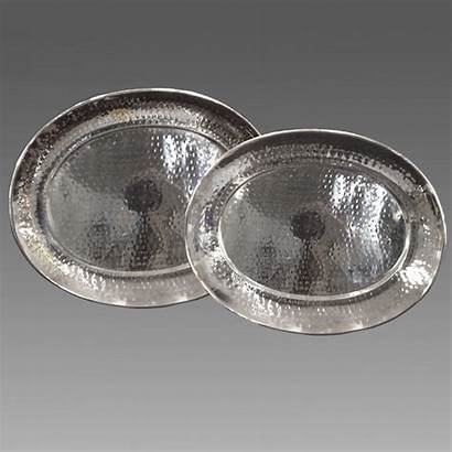Oval Hammered Trays