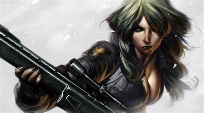 Sniper Wolf Gear Metal Solid Artwork Fantasy