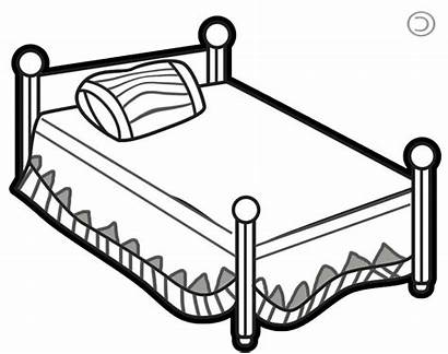 Bed Clipart Bedroom Clip Dog Drawing Simple