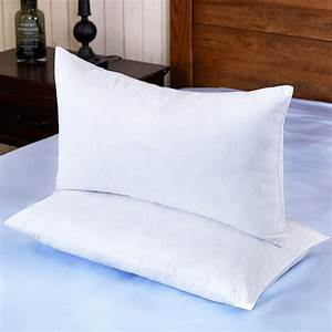 Puredown, White, Feather, Pillow, For, Sleeping, Square, Bed, Pillows, 12, X, 20