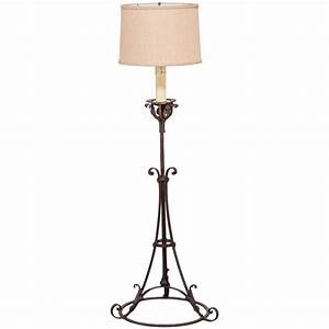 antique french forged iron candle stand floor lamp circa With antique floor lamp stands