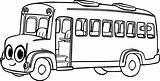 Bus Coloring Cartoon Cliparts Morphle Clipart Cute Clip sketch template
