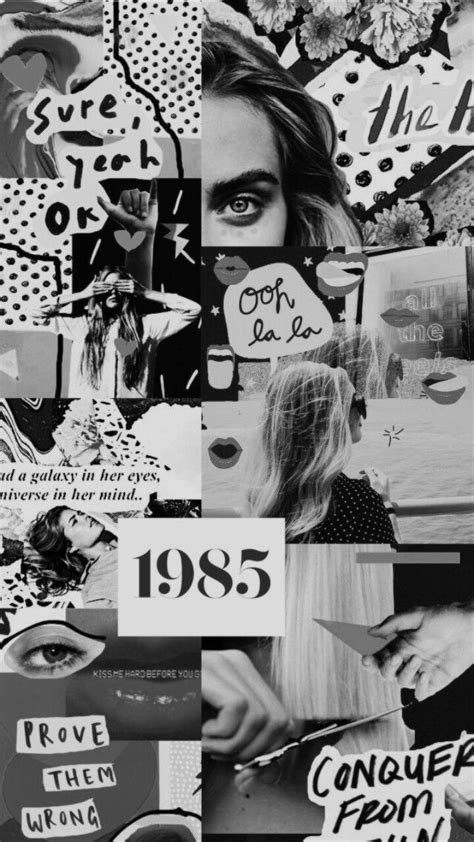 aesthetic collage black and white on we it