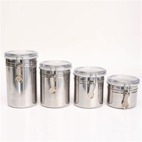airtight kitchen canisters 1 4pcs airtight stainless steel canisters storage