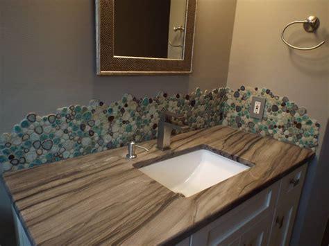 Pebble Tile Backsplash : Porcelain & Pebbles Bathroom Backsplash Heart-shaped