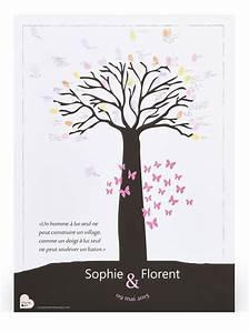 affiche a empreintes baobab arbre a empreinte original With affiche chambre bébé avec mariage fleur