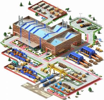 Processing Wood Plant Industrial Complex Megapolis L3