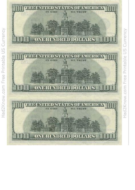 dollar bill template  printable
