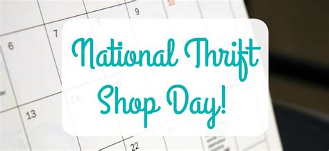 national thrift shop day celebrate save talking cents