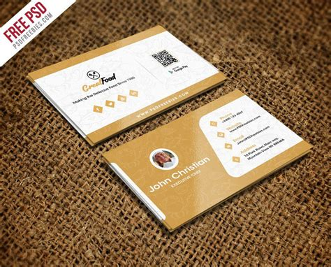 catering visiting card templates restaurant chef business card template psd creative