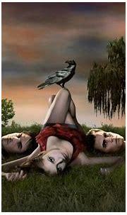 Fond d'écran : herbe, Nina Dobrev, The Vampire Diaries ...