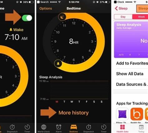 new bedtime in iphone clock app setup enable disable features