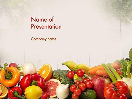 fruits  vegetables powerpoint template backgrounds