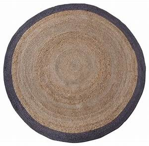 Tapis De Chanvre : tapis rond en chanvre 200 cm ermelo couleur naturel moderne tapis de d coration par ~ Dode.kayakingforconservation.com Idées de Décoration