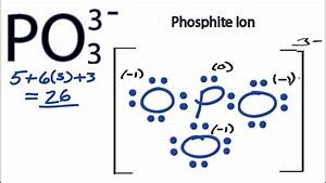 Po3 3- Lewis Structure - How To Draw The Lewis Structure For Po33-
