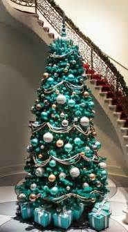 christmas tree decorations turquoise christmas decorating
