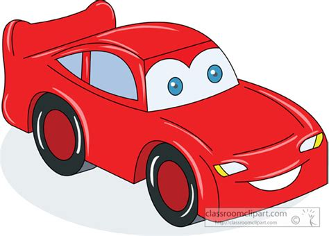 Little Red Car Clipart