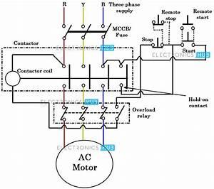Wiring Diagram Contactor Motor