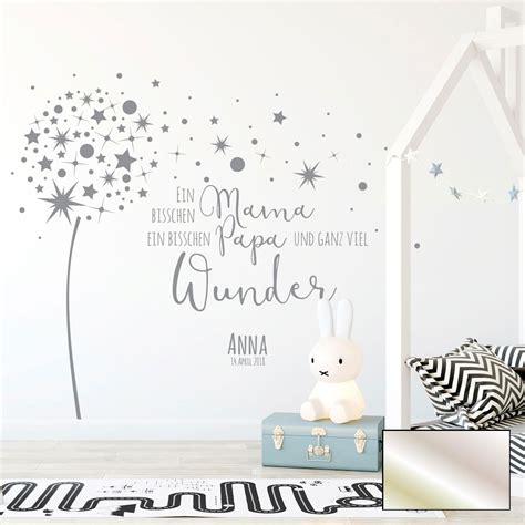Wandtattoos Für Babyzimmer by Wandtattoo Babyzimmer Pusteblume Spruch Zitat Sterne