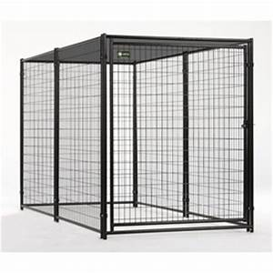 shaded akc welded wire pet kennel in steel at lowes With outside dog kennels lowes
