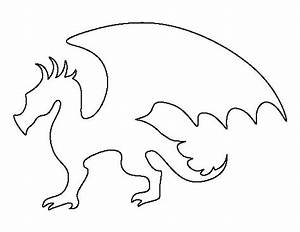 Dragon pattern use the printable outline for crafts for Dragon cutout template