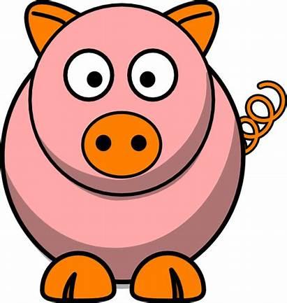 Clipart Oink Pig Clip Clker Pink Babi