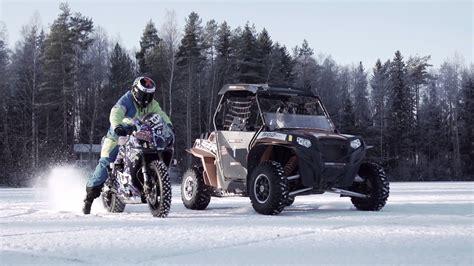 polaris utv  suzuki gsxr  ice za bikers