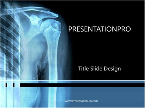 skeleton  ray powerpoint template background  medical