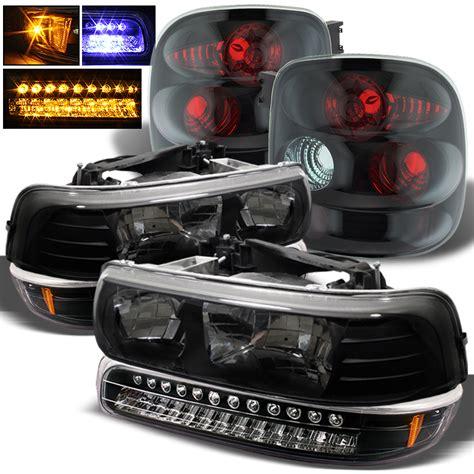 02 silverado tail lights for 99 02 silverado stepside headlights led bumper black