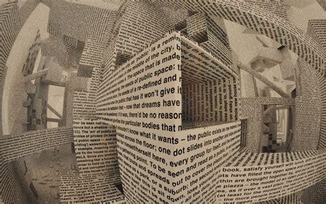 abstract  cg digital art manipulation paper words