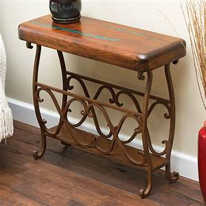 Western Furniture Large Mesquite Scrollwork Accent Table