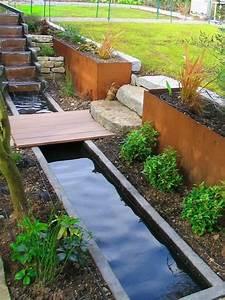 Jardin Avec Bassin : cascade de jardin fontaine et bassin 80 oasis modernes jardin jardins bassin de jardin et ~ Melissatoandfro.com Idées de Décoration
