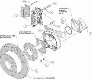 Wilwood Disc Brake Kit 1956 Chevy Corvette 12 U0026quot  Rotors Red
