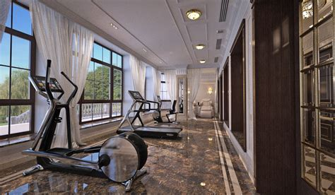 INDESIGNCLUB   Massage and Fitness room interior in Luxury