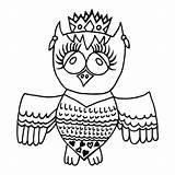 Crone Owl Cute Depositphotos sketch template