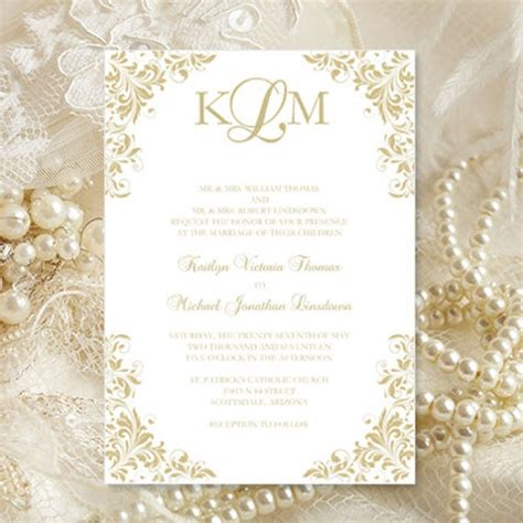 champagne wedding invitations kaitlyn printable
