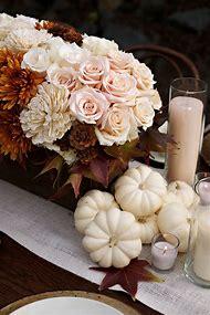 Fall White Pumpkin Wedding Table Centerpi…