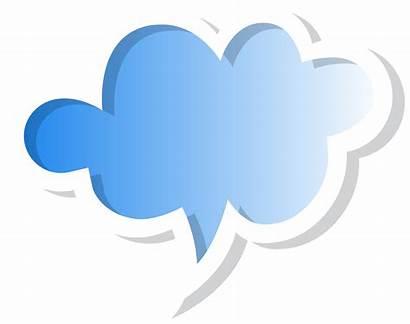Bubble Speech Transparent Cloud Clipart Clip Bubbles