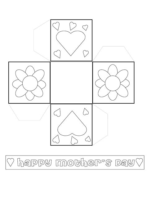 sweet mothers day basket templates