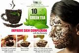 green tea teabags for skin
