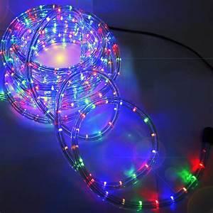Led rope light white blue fairy string outdoor lighting m