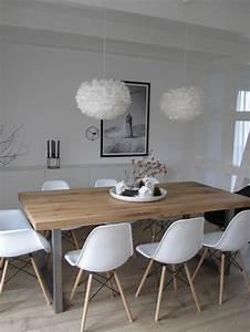 quelle deco salle a manger choisir idees en 64 photos With meuble de salle a manger avec salon scandinave blanc