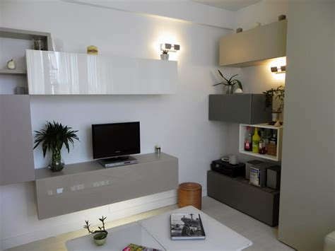 dressing cuisine petit appartement de 40m2 cuisine entrée salon dressing