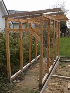 Gartenhaus Mit Holzlager : bau eines holzlagers garten pinterest holzlager holzaufbewahrung und ~ Whattoseeinmadrid.com Haus und Dekorationen