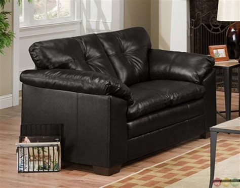 Leather Sofa And Loveseat Sets by Sebring Back Black Bonded Leather Sofa And Loveseat Set