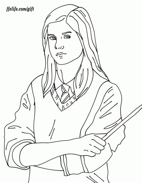 harry potter coloring pages ginny collection coloring