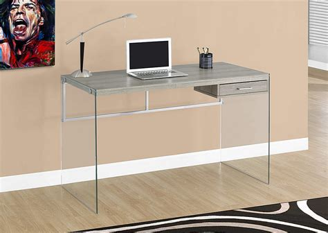 glass table computer desk cool glass computer desks for home office minimalist