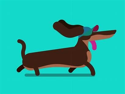 Dog Cartoon Animated Animation Gifs Dachshund Giphy
